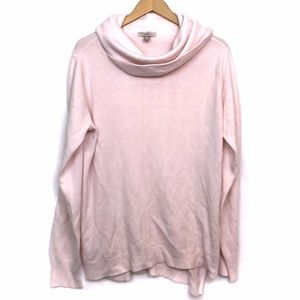 ROZ ALI Light Baby Pink Cowl Neck Acrylic Sweater